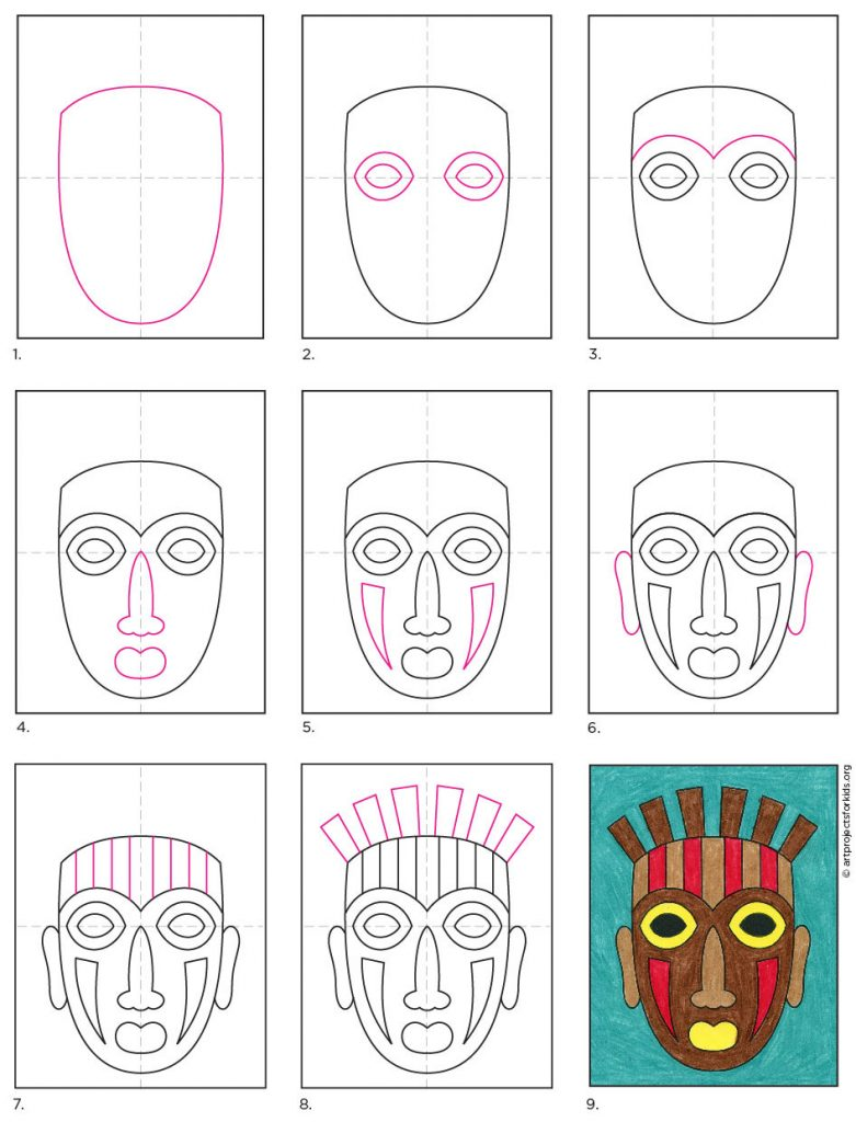 How to Draw a Tribal Mask