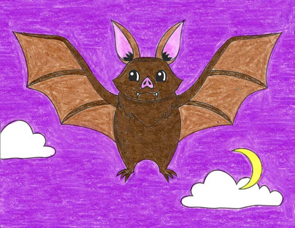 How to Draw a Flying Bat