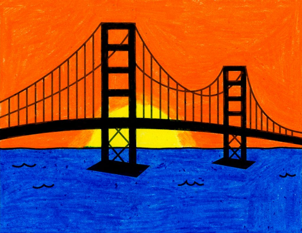 How to Draw the Golden Gate Bridge