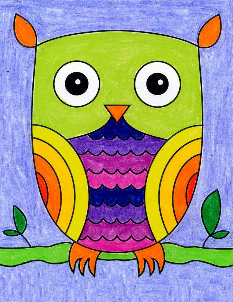 How to Draw an Easy Owl · Art Projects for Kids