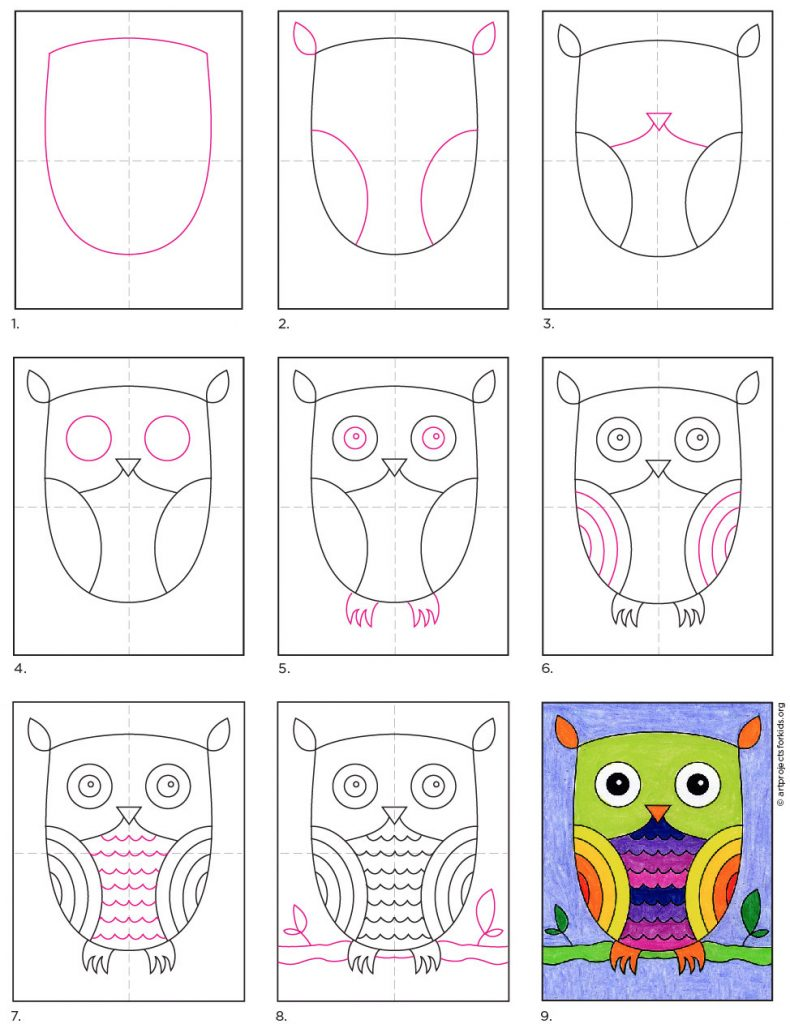 How to Draw an Easy Owl