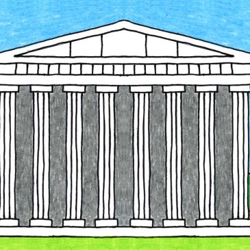 Easy Ancient Greek Temple Drawing