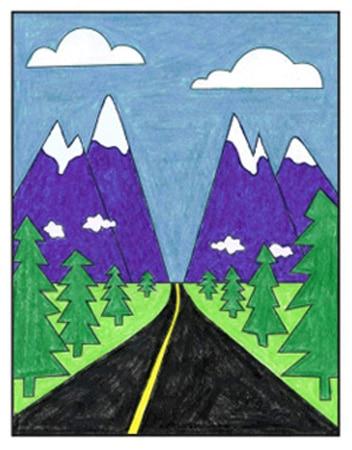 Image result for landscape drawings for kids