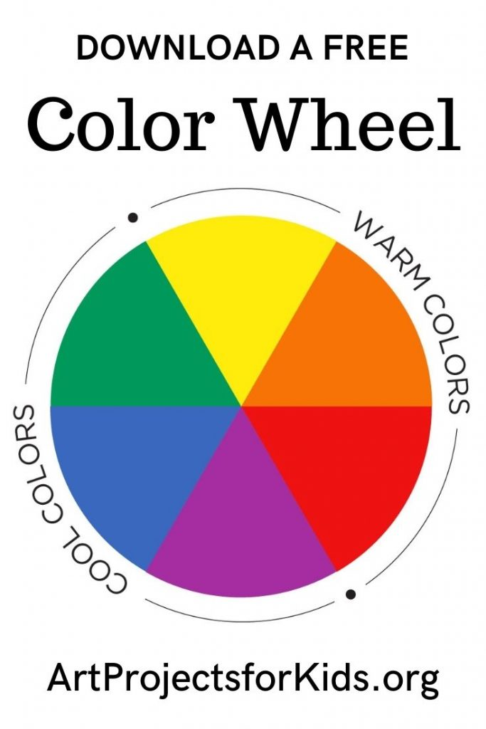 New Downloadable Primary Color Wheel Art Projects For Kids