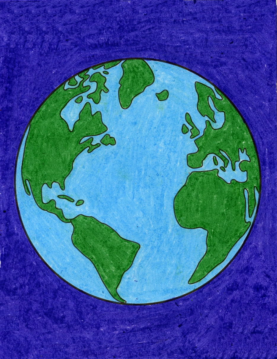 How To Draw The Earth Art Projects For Kids