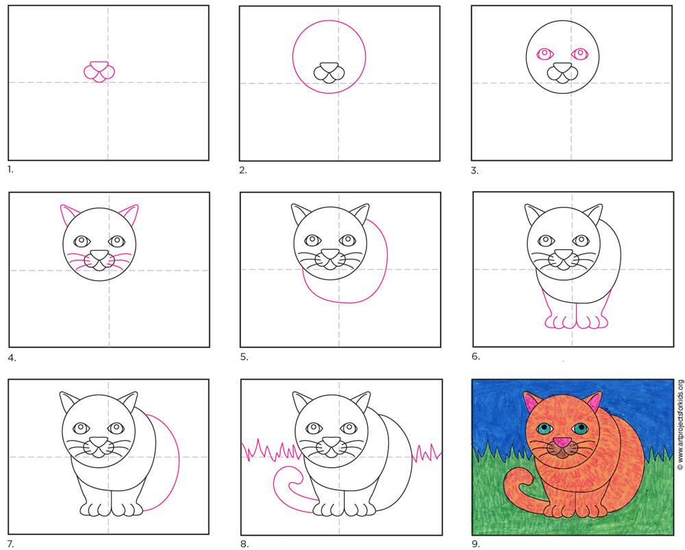 how to draw a fat cat