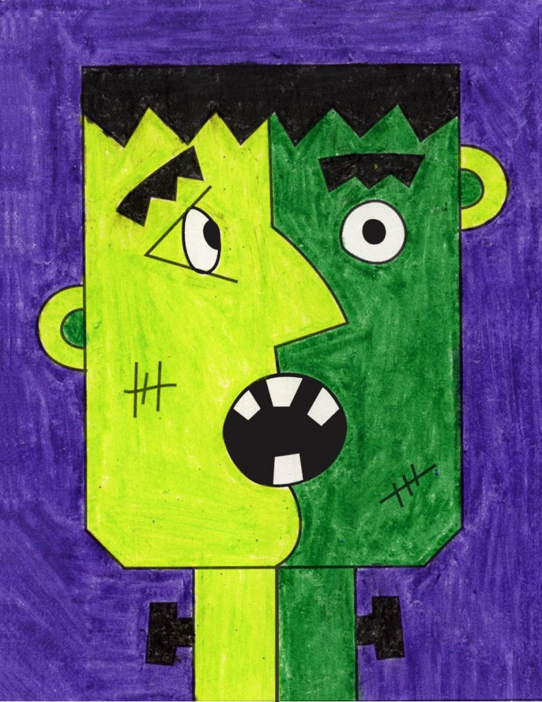 Easy Halloween Drawings A Colorful Sunset Art Projects For Kids