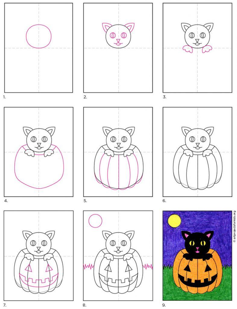 Draw a Halloween Cat