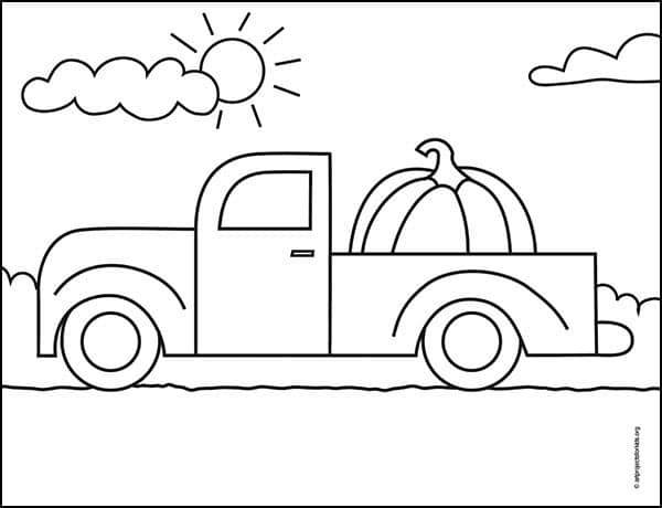 Pickup Truck Coloring page, available as a free download.
