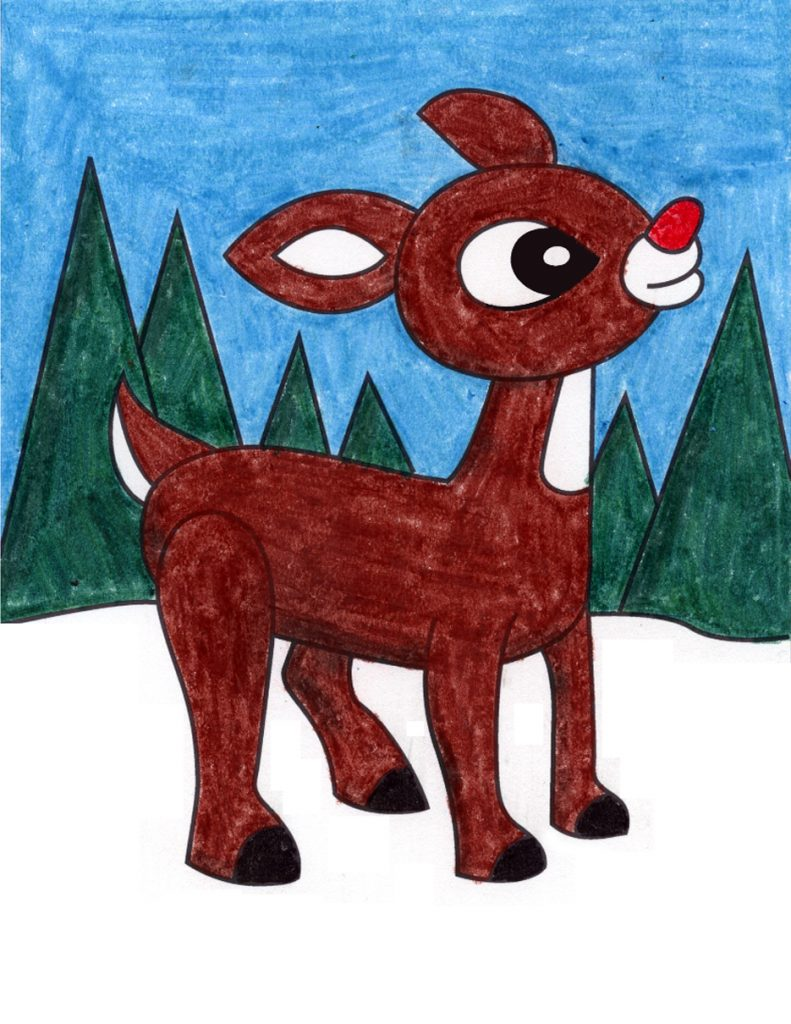 how to draw rudolph art projects for kids how to draw rudolph art projects for kids
