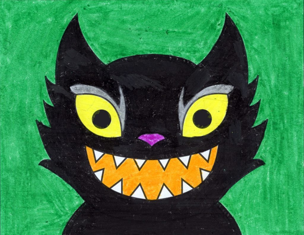 Scary Cat Face – Activity Craft Holidays, Kids, Tips