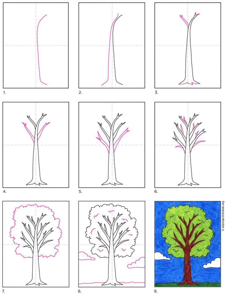 How To Draw A Tree Art Projects For Kids Cartoon tree free vector we have about (24,016 files) free vector in ai, eps, cdr, svg vector illustration graphic art design format. how to draw a tree art projects for kids