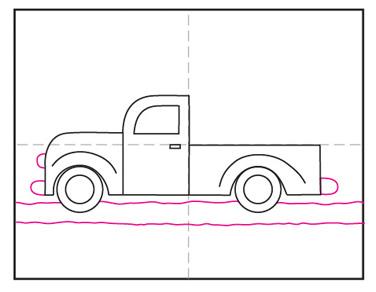Pickup Truck String Art