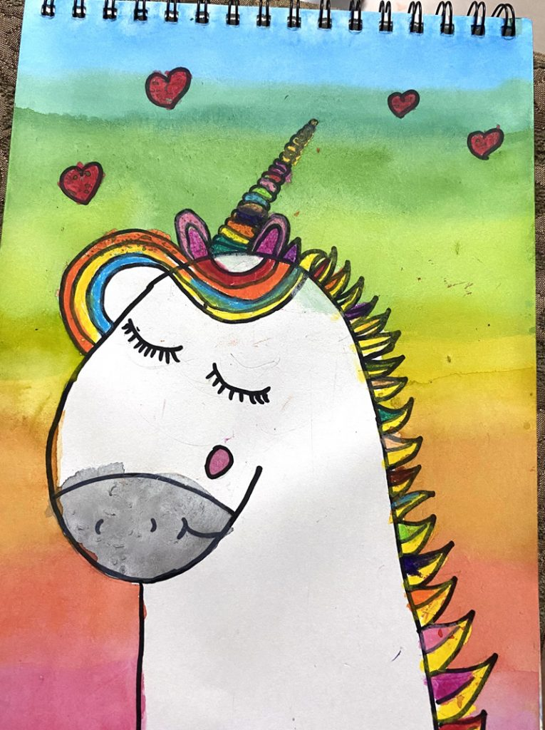 Easy Unicorn Drawing Art Projects For Kids
