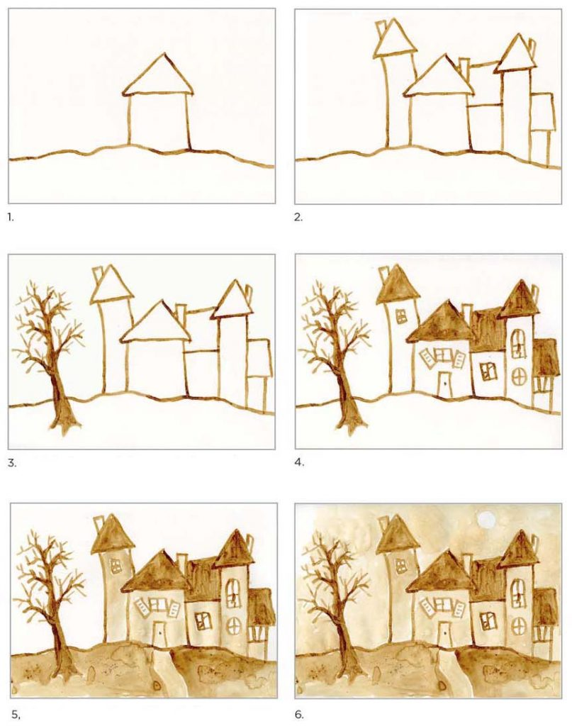 Haunted House With Coffee Art Projects For Kids