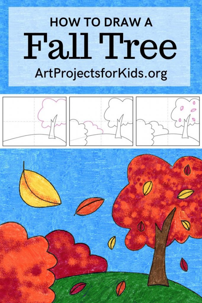 How To Draw A Fall Tree Art Projects For Kids