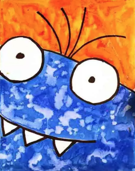 How To Draw A Monster Art Projects For Kids
