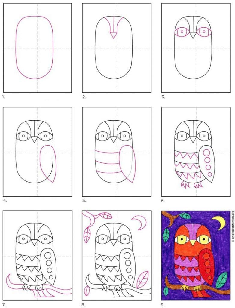 doodle an owl