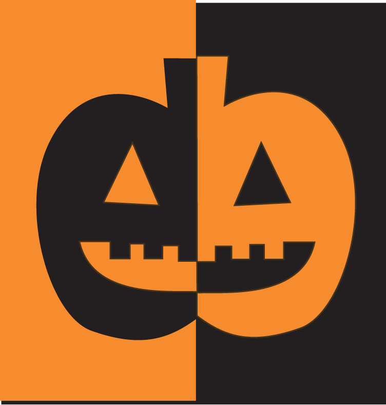 A positive-negative pumpkin collage that teaches a lesson in symmetry.