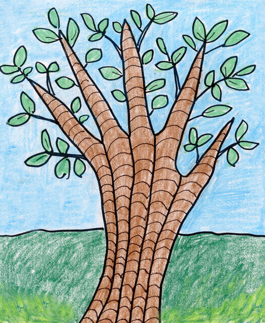 How To Draw An Easy Tree Art Projects For Kids In this tutorial, you will learn how to. how to draw an easy tree art projects