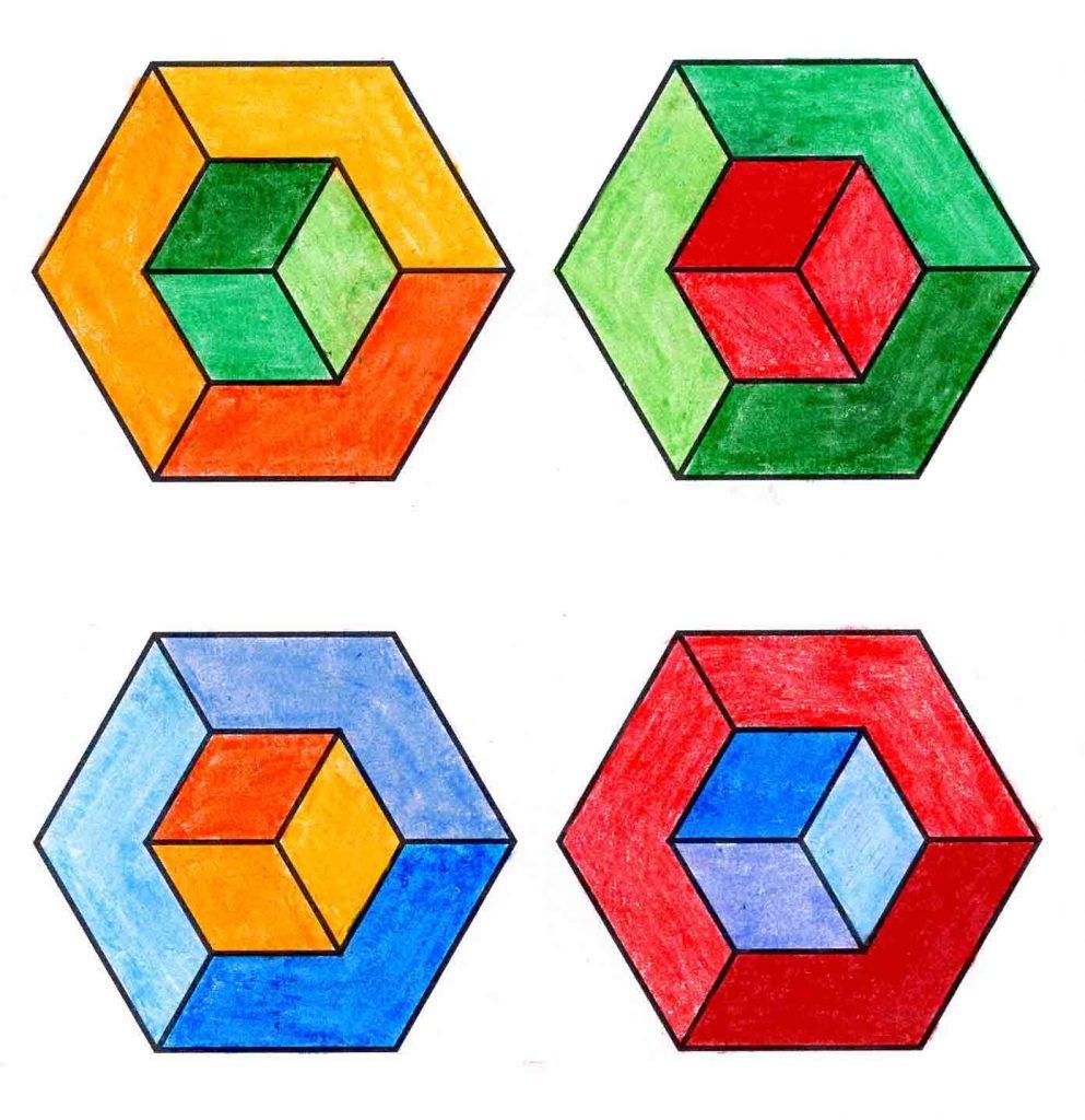 How to Draw an Op Art Cube