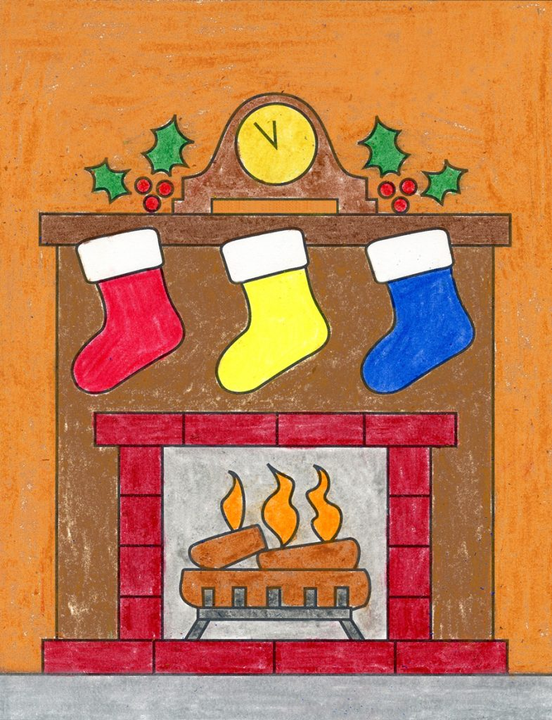 How to Draw a Fireplace