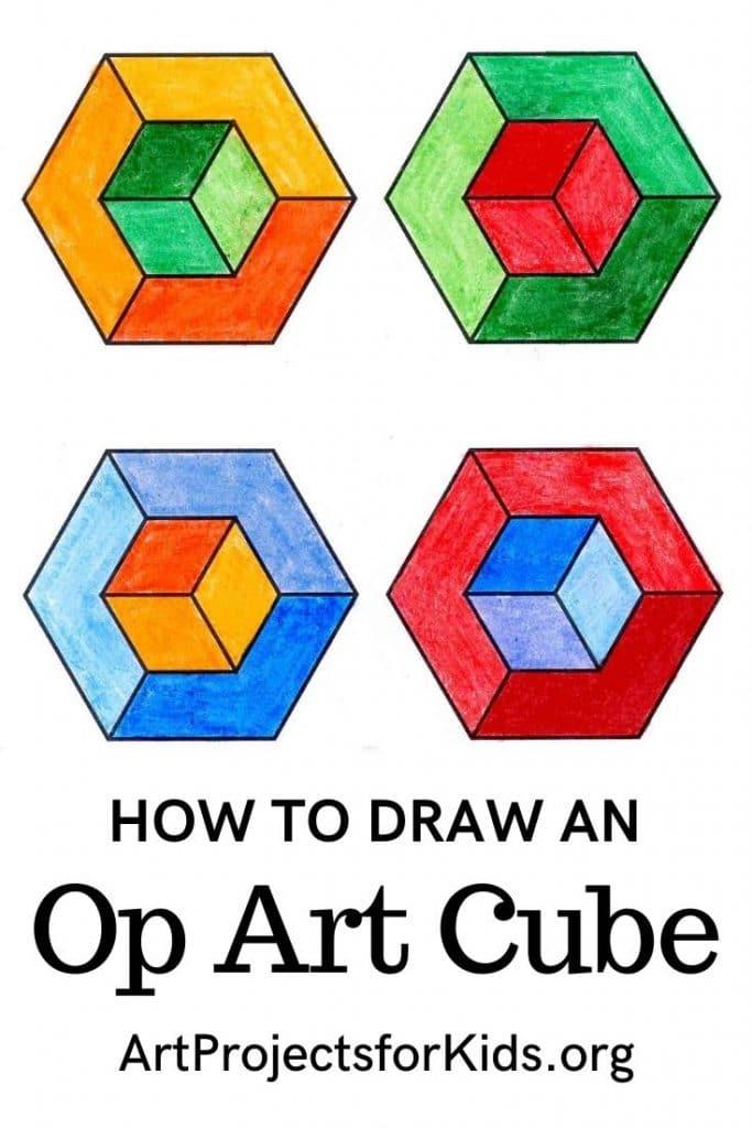 Draw an Op Art Cube