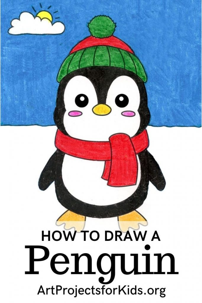 How to Draw a Cute Penguin