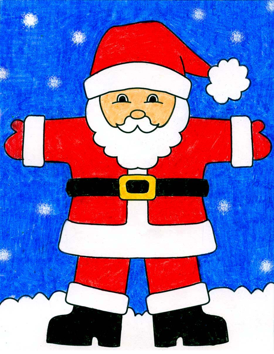 how to draw santa claus art projects for kids how to draw santa claus art projects
