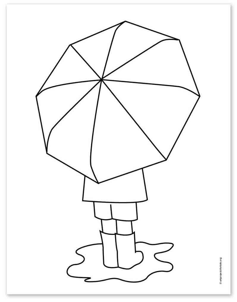 Umbrella Drawing – Activity Craft Holidays, Kids, Tips