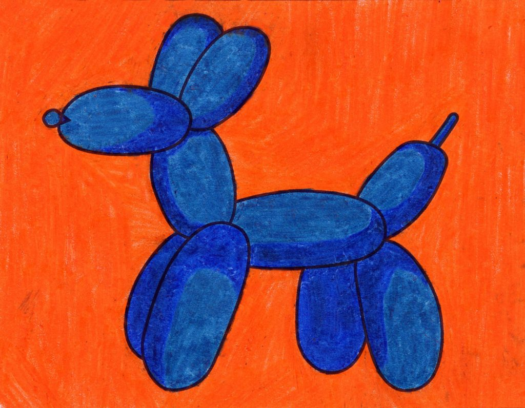 How to Draw a Balloon Dog