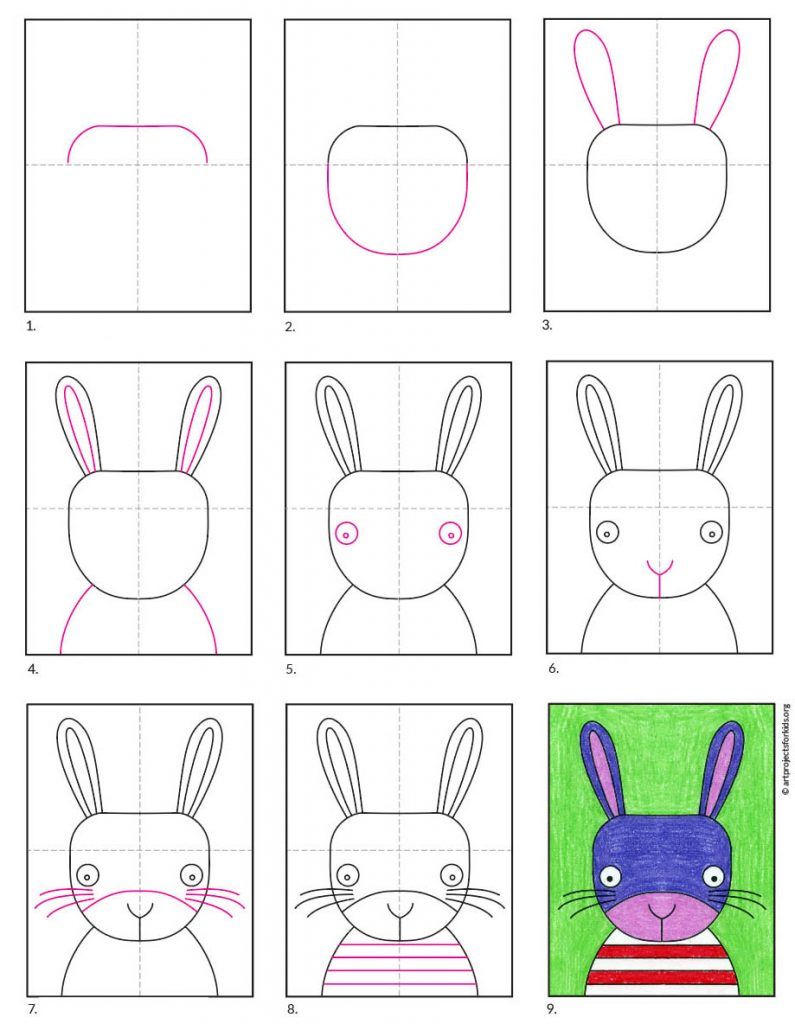 Draw a Cute Bunny Face