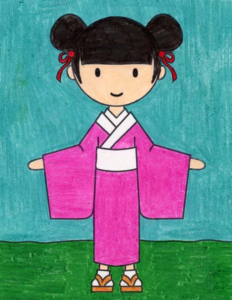 How to Draw a Kimono