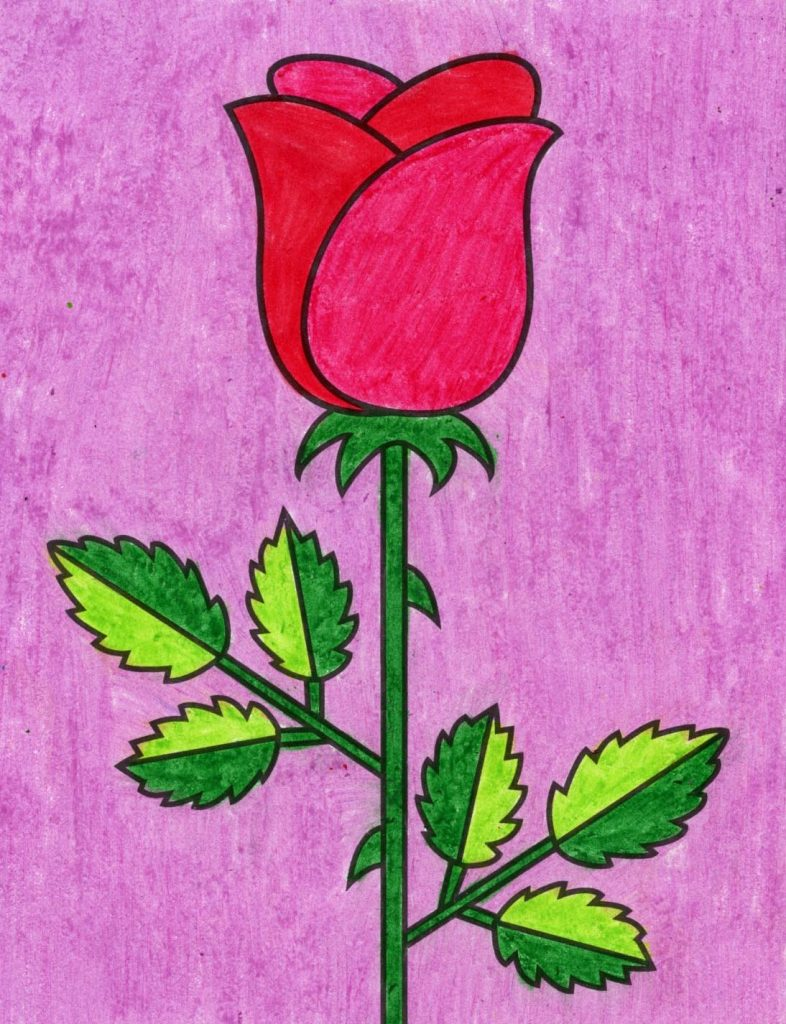 Easy Rose Drawing