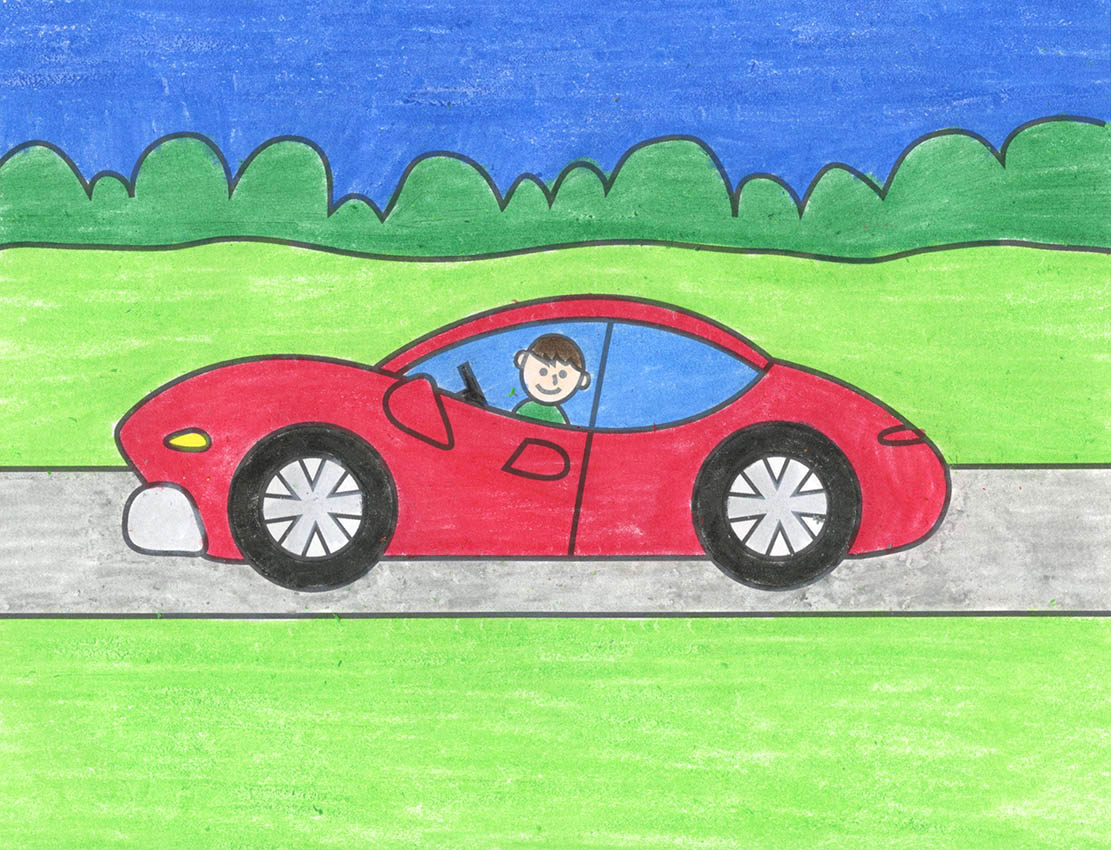 How To Draw A Sports Car Art Projects For Kids