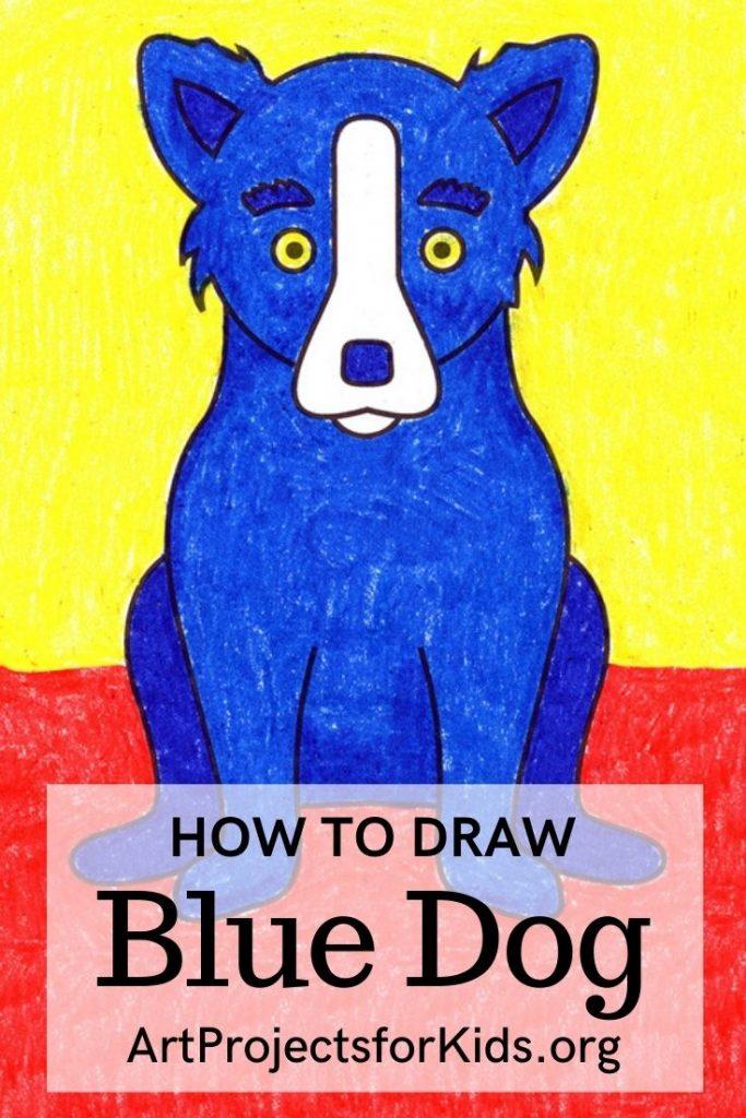 Blue Dog for Pinterest – Activity Craft Holidays, Kids, Tips