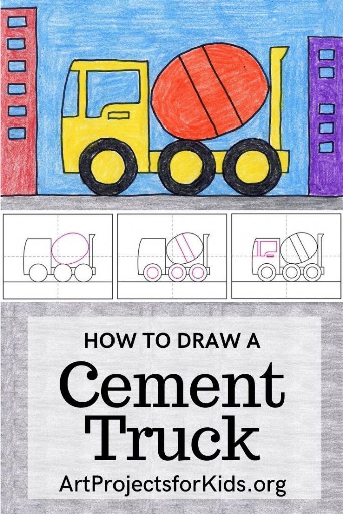draw a cement truck