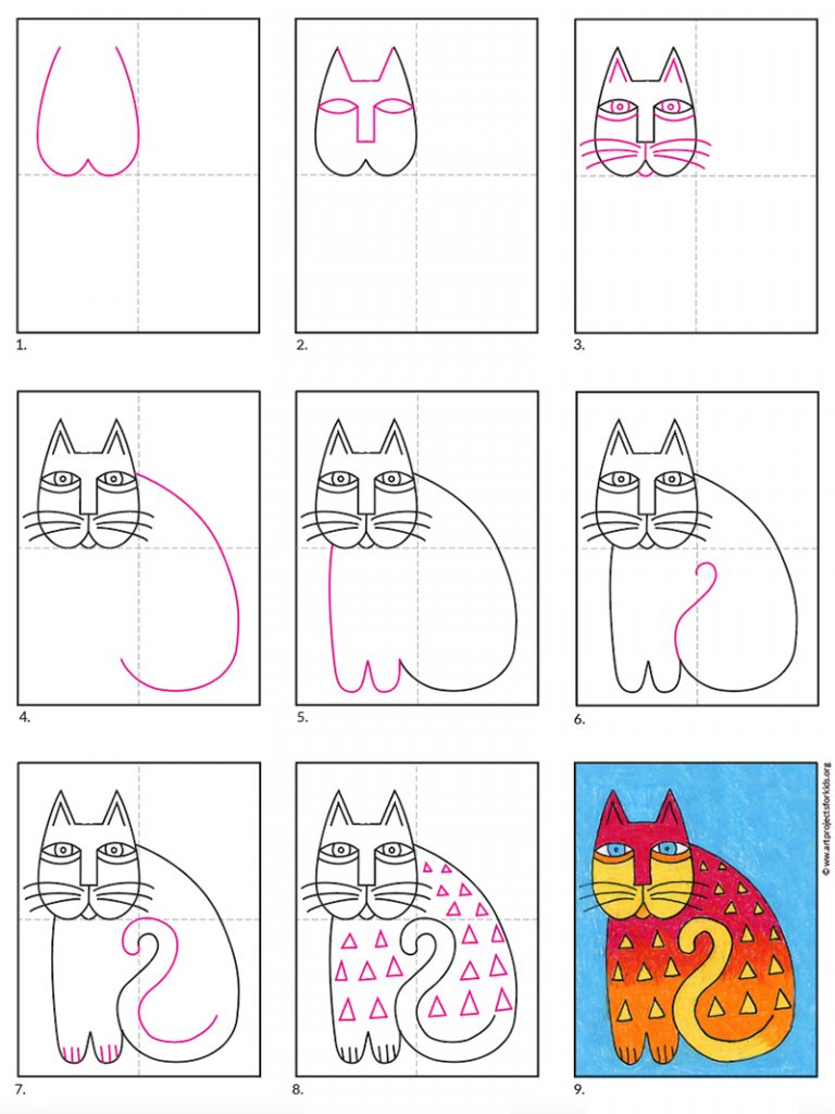 A preview of the Laurel Burch cat tutorial.