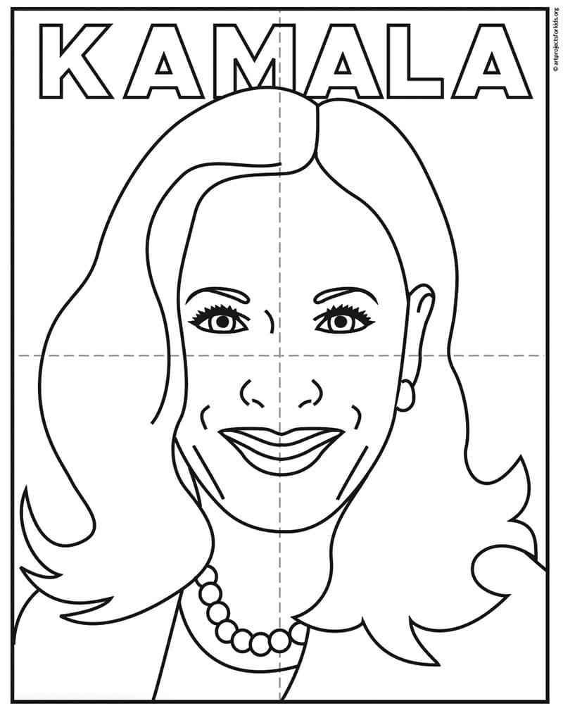 Kamala Line Art 1 – Activity Craft Holidays, Kids, Tips