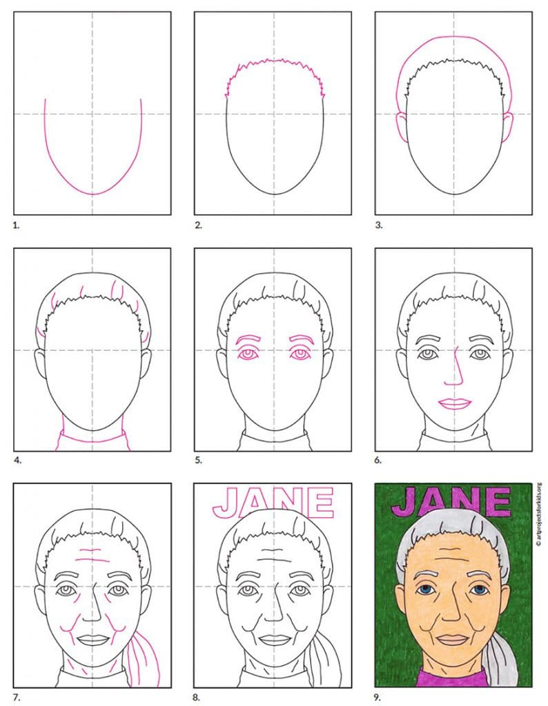 How to Draw Jane Goodall