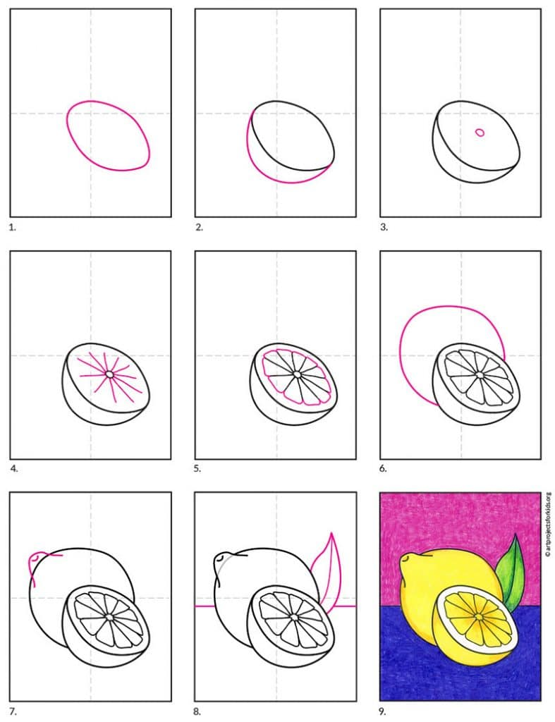 How to Draw a Lemon