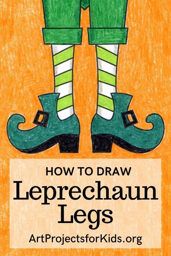how to draw Leprechaun legs