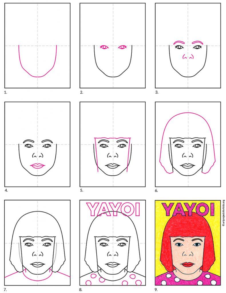 How to Draw Yayoi Kusama