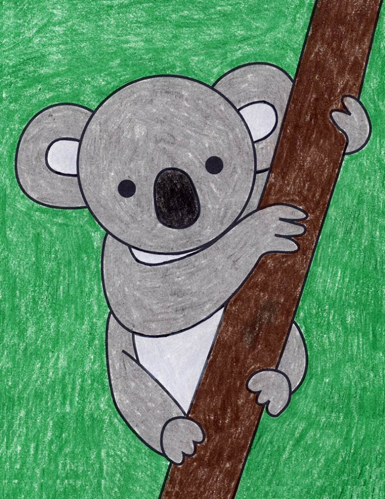 How to Draw a Koala easy