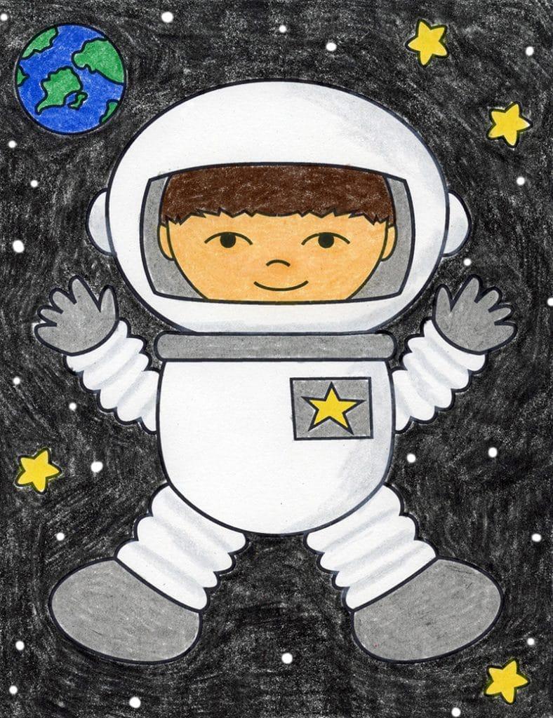 Draw an Astronaut – Activity Craft Holidays, Kids, Tips