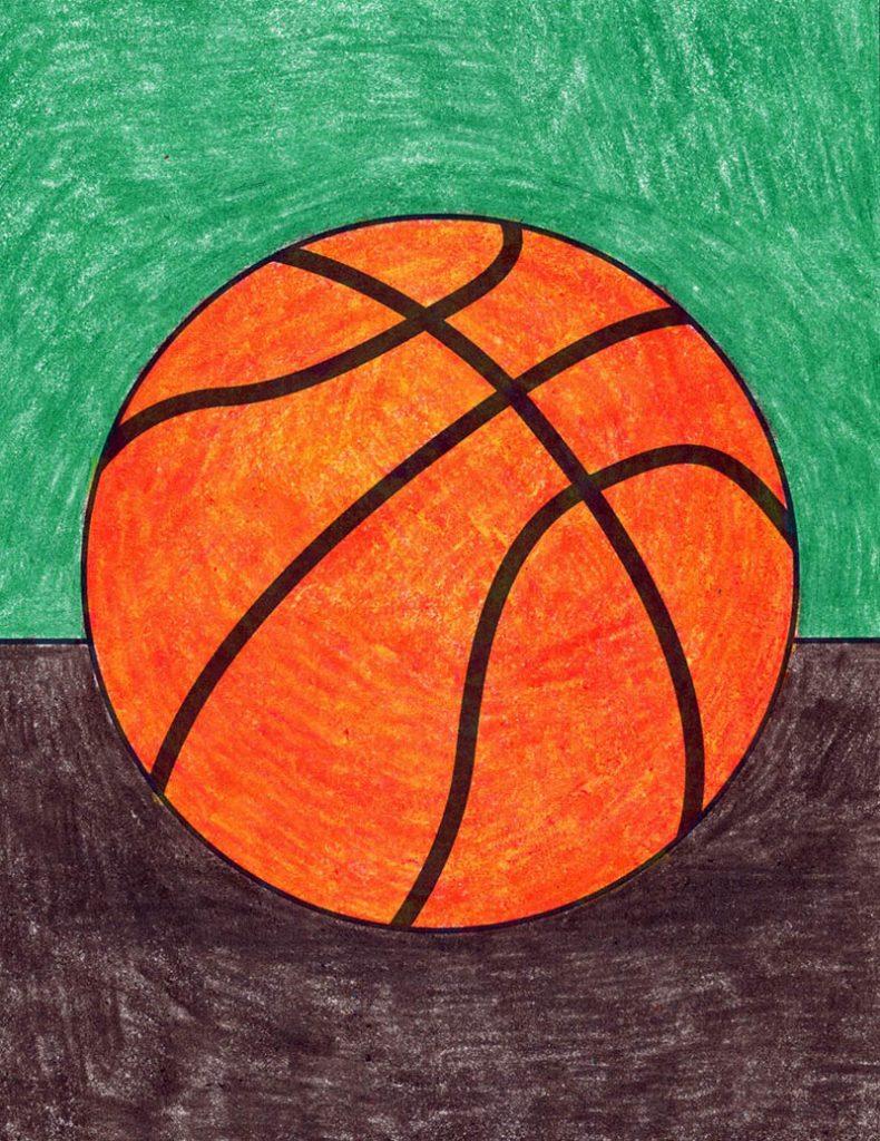 Draw a Basketball – Activity Craft Holidays, Kids, Tips