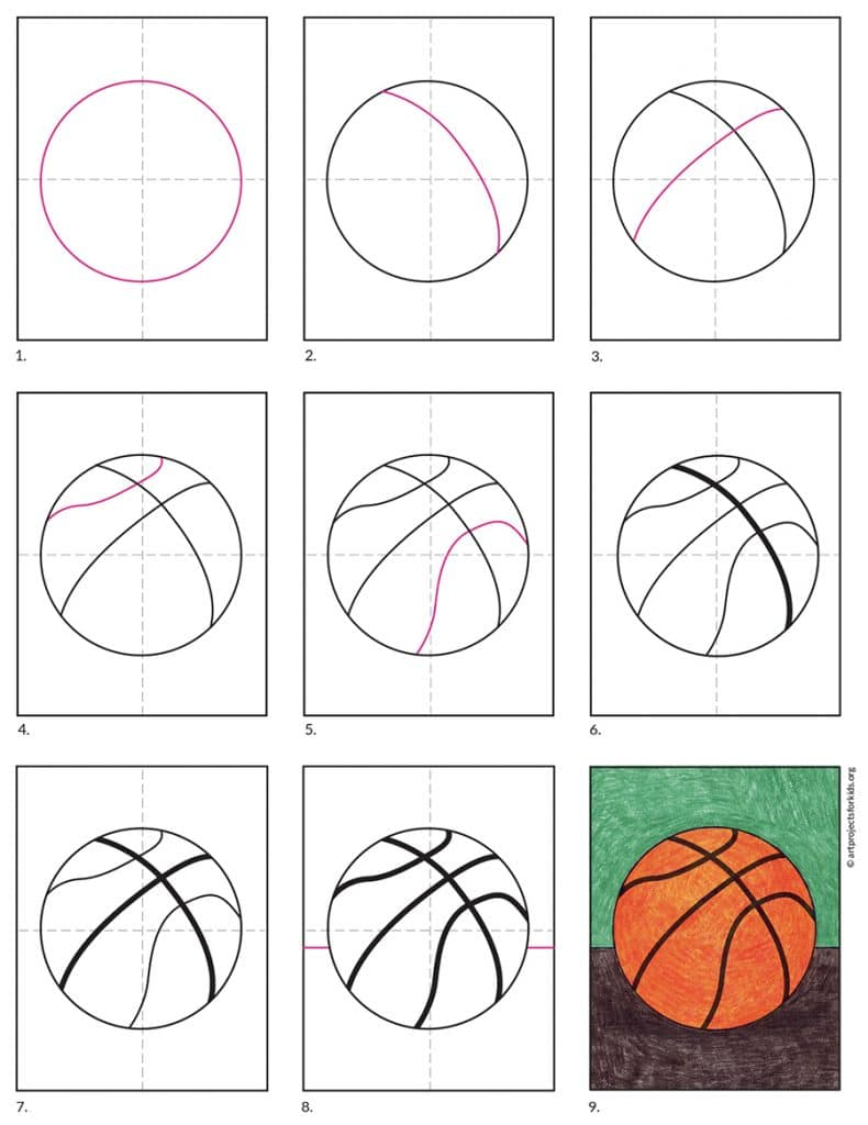 How to Draw a Basketball