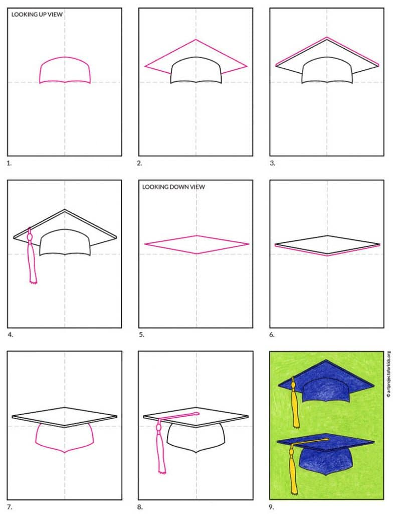 How to Draw a Graduation Cap