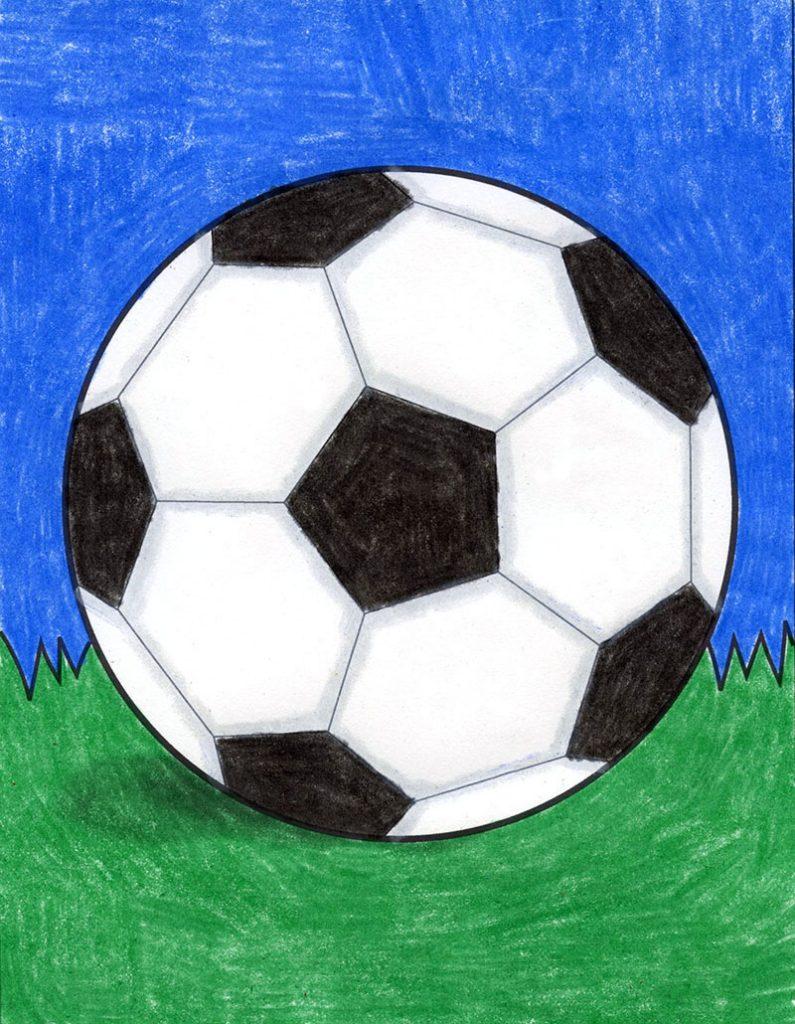 Draw a Soccer Ball – Activity Craft Holidays, Kids, Tips
