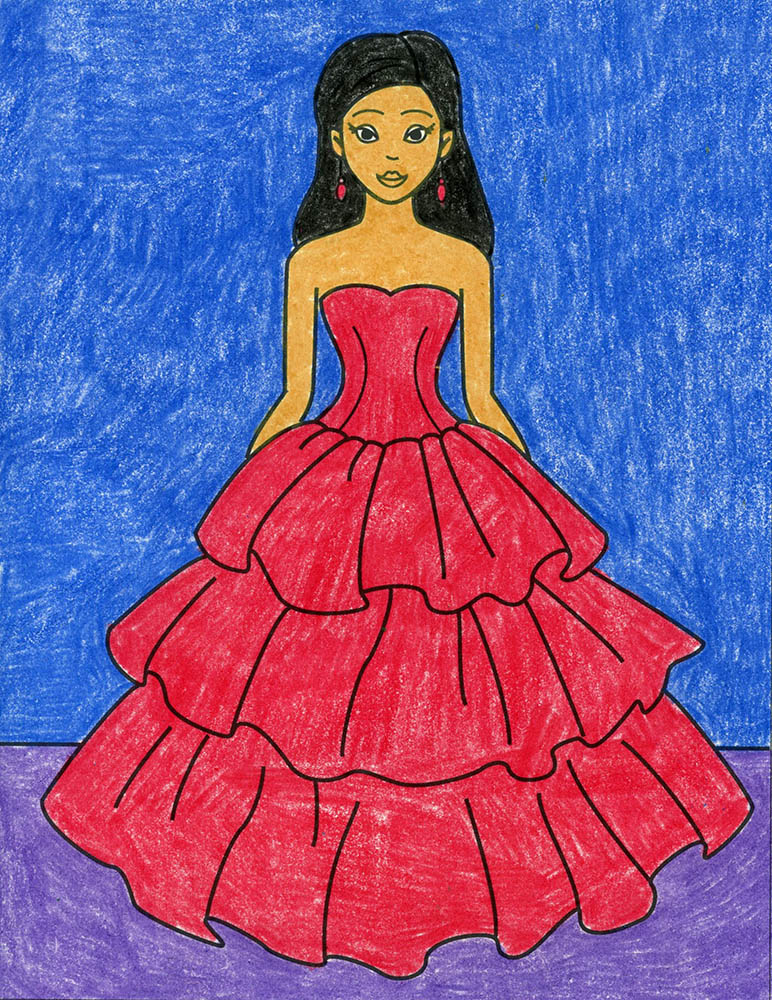 How to Draw a Dress – Activity Craft Holidays, Kids, Tips